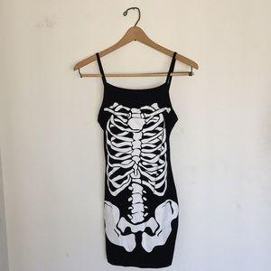 BooHoo Skeleton Mini Dress